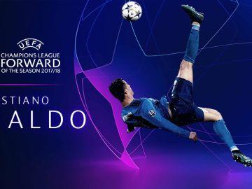 Cristiano Ronaldo, mejor delantero de la temporada 2017/2018 en la Champions