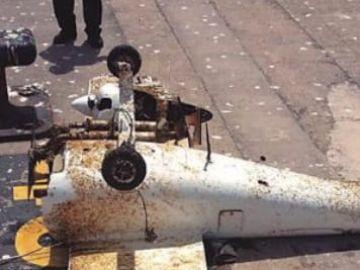 Aparece una avioneta en el mar no tripulada en Las Palmas