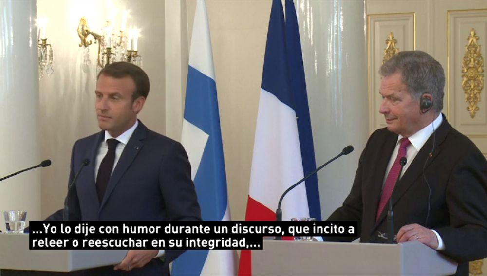 """Macron se defiende tras decir que los """"galos son resistentes al cambio"""""""
