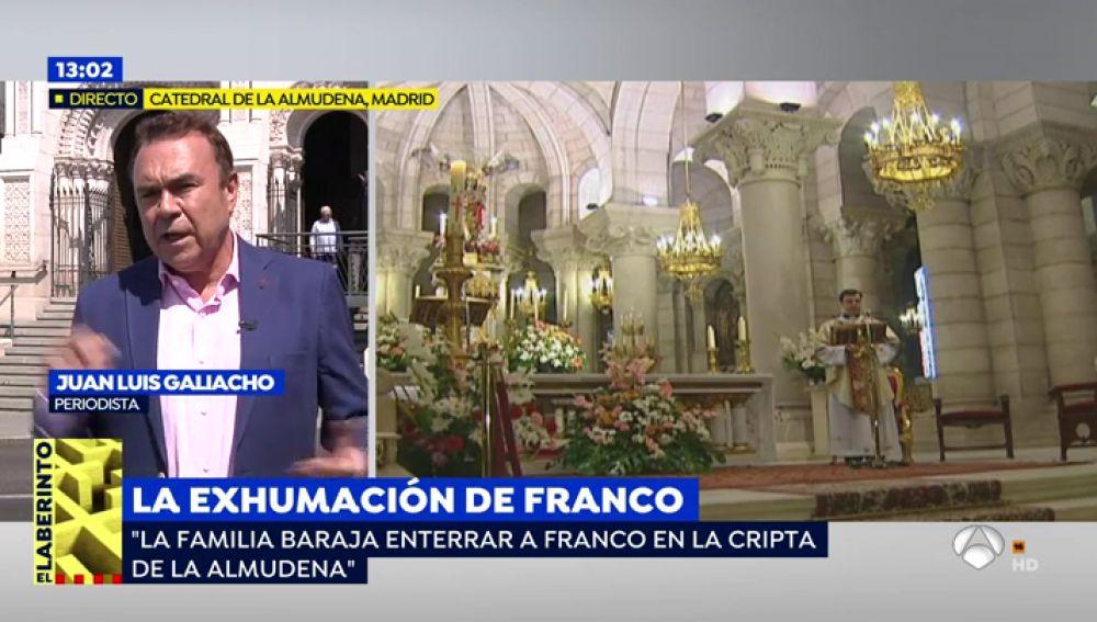 Los restos de Franco podrían trasladarse a la Catedral de La Almudena tras ser exhumados del Valle de los Caídos
