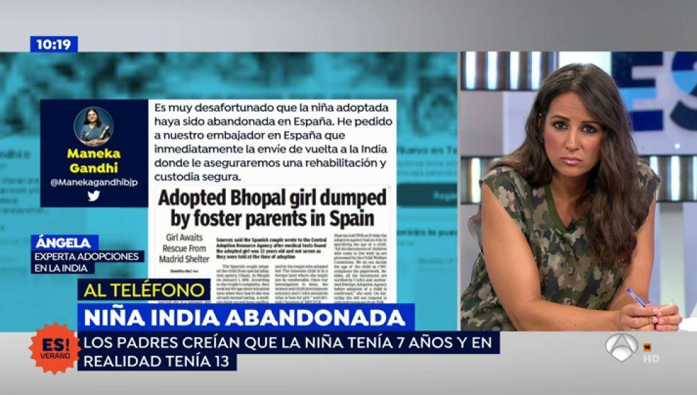 """""""La familia que ha rechazado a la niña india no estaba preparada para recibir a una menor de esa edad"""""""