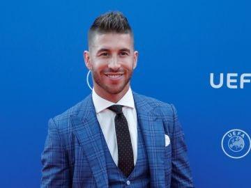 Sergio Ramos, durante la gala de los premio de la UEFA
