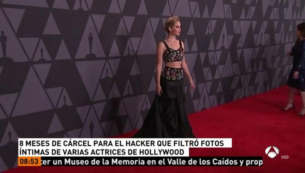 El hacker de Jennifer Lawrence condenado a ocho meses de cárcel y tres años de libertad vigilada