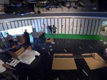 El 'time-lapse' que muestra cómo se construyó el nuevo plató de Antena 3 Noticias