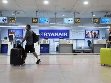 Mostradores de la aerolínea Ryanair