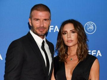 David y Victoria Beckham en gala de la UEFA en Mónaco