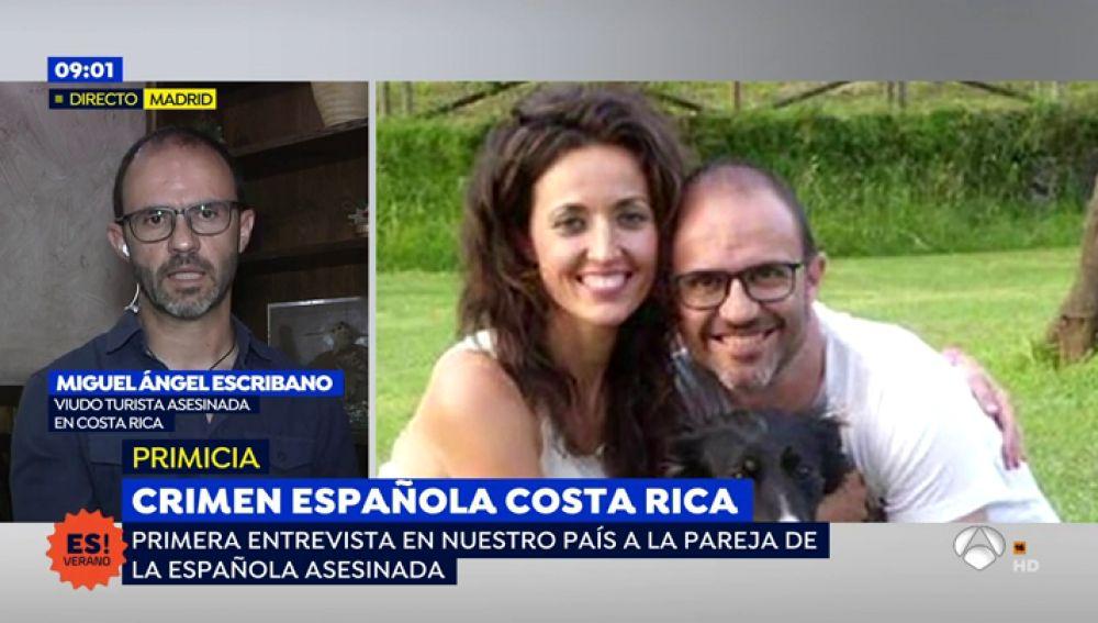 """El marido de la española asesinada en Costa Rica: """"Nadie te avisa de lo peligroso que es salir de los hoteles"""""""