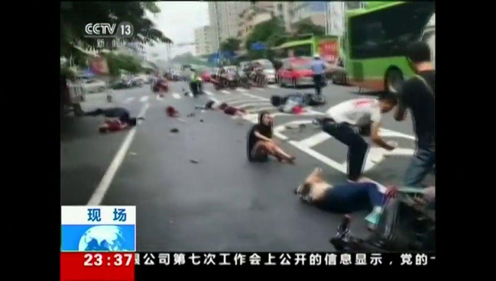 Una furgoneta pierde el control en China y mata a cuatro personas
