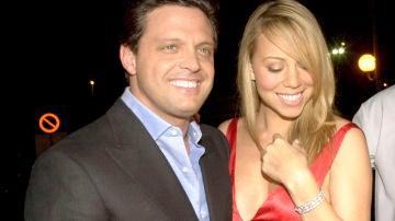 Luis Miguel junto a Mariah Carey