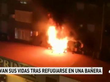 Cinco personas afectadas por un incendio ya sofocado en Málaga