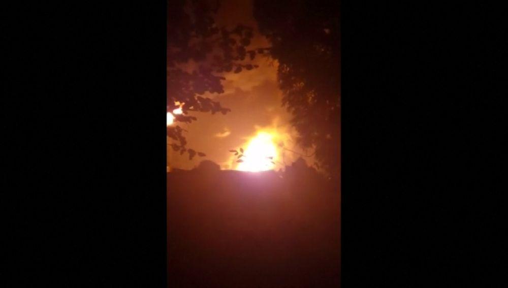 Un gran incendio en una refinería del sur de Alemania provoca ocho heridos