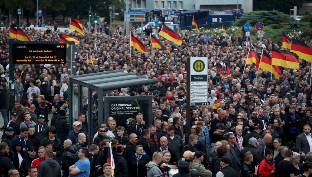 Manifestación en Chemnitz
