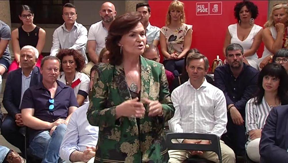 Calvo se reúne con la portavoz del Govern, Elsa Artadi