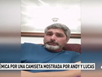 """Juan José Cortés muestra su apoyo a Andy y Lucas tras la polémica por la foto de Gabriel: """"Todas las veces que lleves la foto de mi hija estaré agradecido"""""""