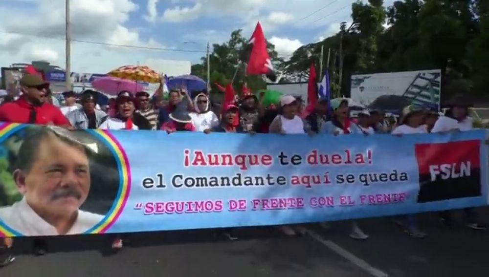 Los sandinistas se manifiestan en Nicaragua en defensa de Ortega