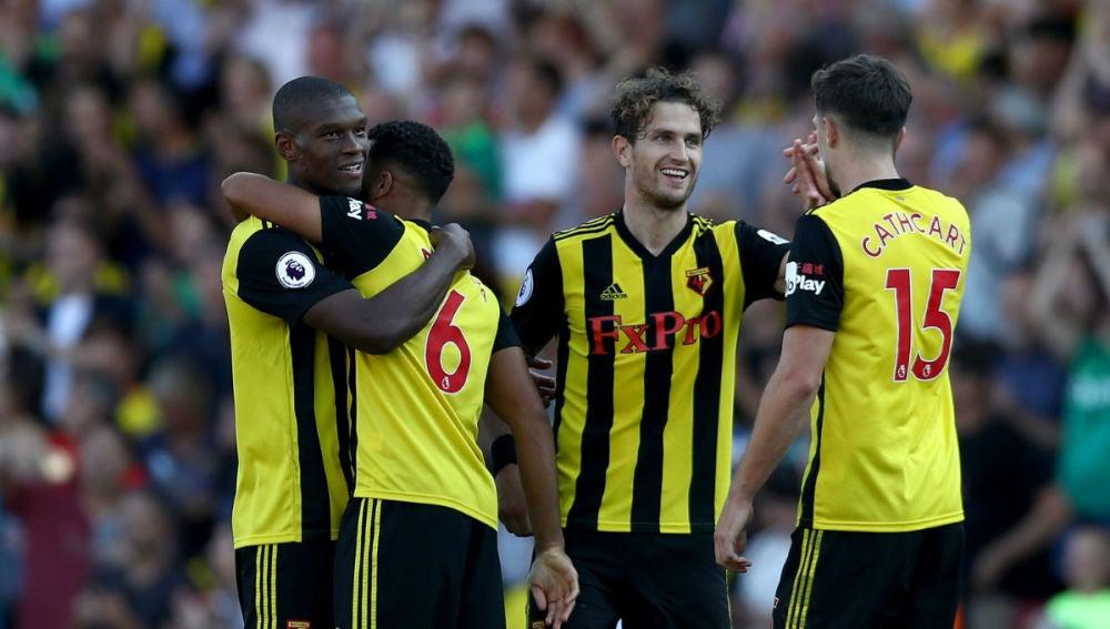 El Watford celebra un gol