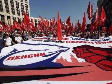 Protestas en Rusia por la reforma de las pensiones