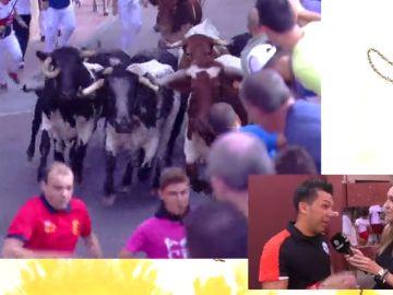 """Encierros de Sanse 2018 - Ander, corredor en el último día de encierros: """"la manada ha ido veloz, pero hemos podido disfrutarlo"""""""
