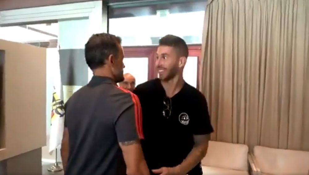 Encuentro entre Luis Enrique y Sergio Ramos