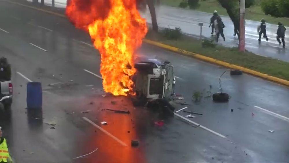 Las manifestaciones en Nicaragua dejan al menos dos heridos de bala