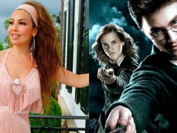 Thalía como villana de 'Harry Potter'