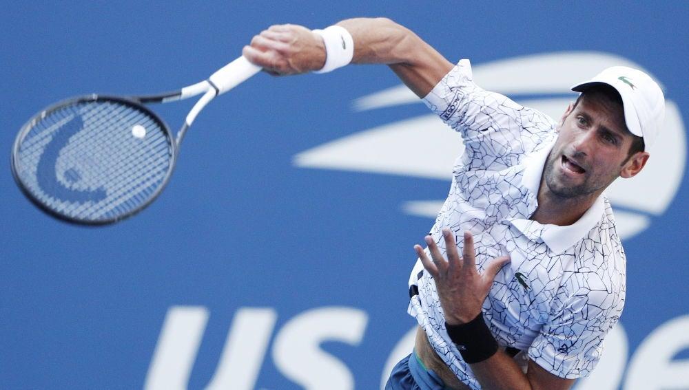 Djokovic, durante el partido en el US Open