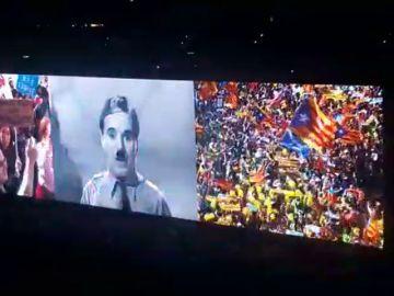 Una manifestación independentista se cuela en la gira de U2