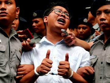 Condenados a siete años de prisión los dos periodistas de Reuters detenidos en Birmania por violar secretos de Estado