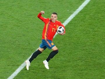 Iago Aspas, en un partido con la Selección