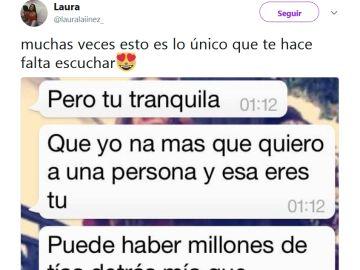 La conversación publicada por Laura