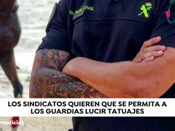 Las asociaciones de guardias civiles amenazan con denunciar el borrador  de texto normativo que prohíbe los tatuajes y fumar
