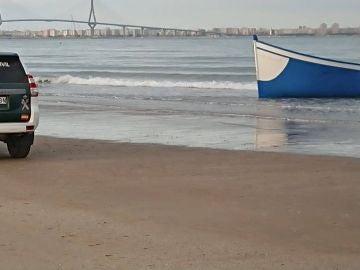 La patera que ha llegado a las costas del Puerto de Santa María