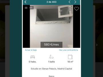 Anuncio de alquiler en Madrid