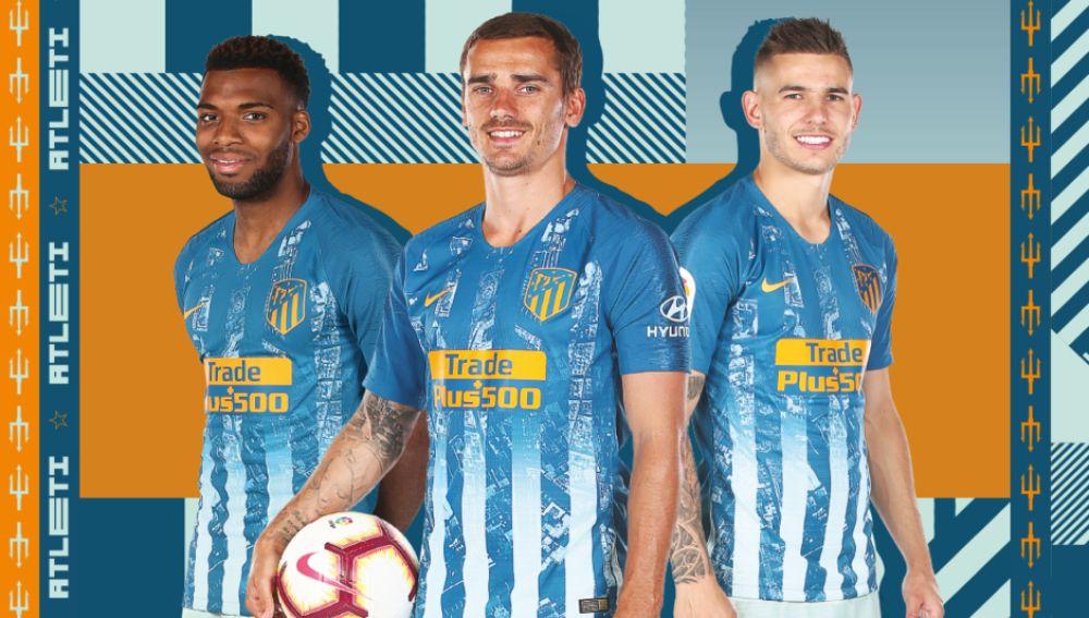 segunda equipacion Atlético de Madrid niños