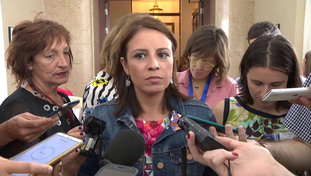 """Adriana Lastra, sobre Ana Pastor: """"Empieza a parecerse más a Pablo Casado que a la presidenta"""""""