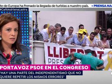"""Adriana Lastra: """"Una parte del independentismo catalán no quiere cometer los mismos errores"""""""