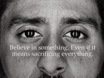 Colin Kaepernick, en el anuncio