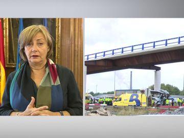 """La alcaldesa de Avilés: """"El conductor sigue en la UCU y, de momento, no hemos podido hablar con él"""""""