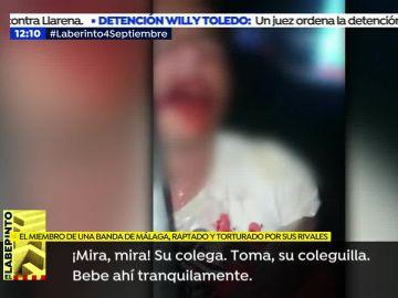 """Las impactantes imágenes del rapto y tortura a un miembro de una banda en Málaga: """"No te resistas"""""""