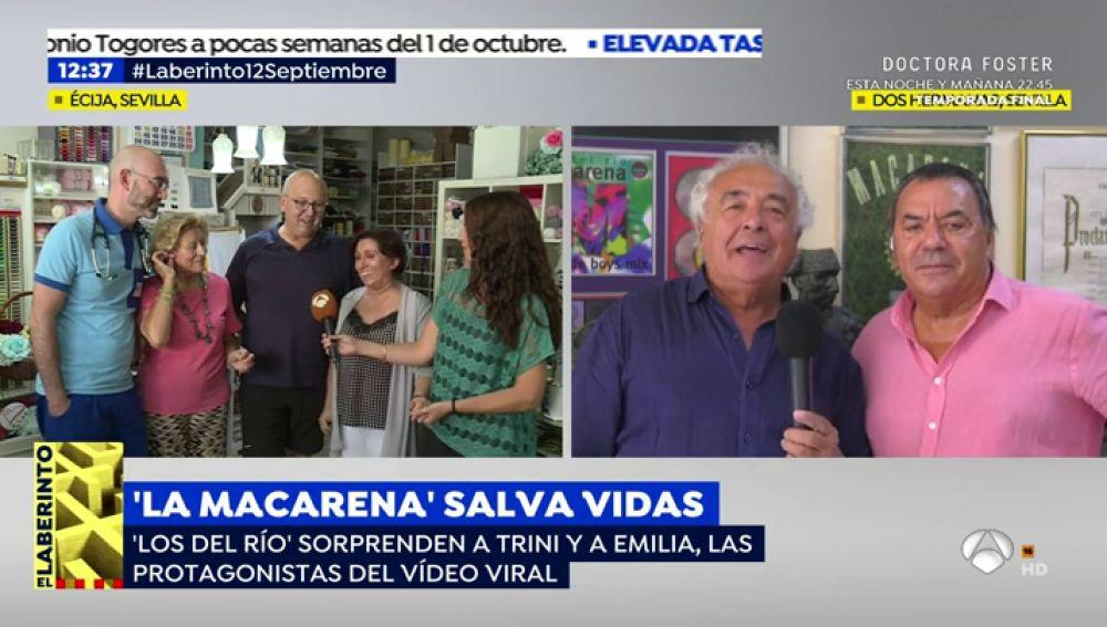 La emotiva respuesta de Los del Río a las protagonistas del vídeo viral del masaje cardiaco al ritmo de 'La Macarena'