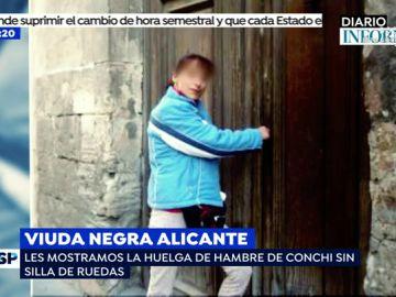 Las imágenes que demuestran que la viuda negra de Alicante no es minusválida