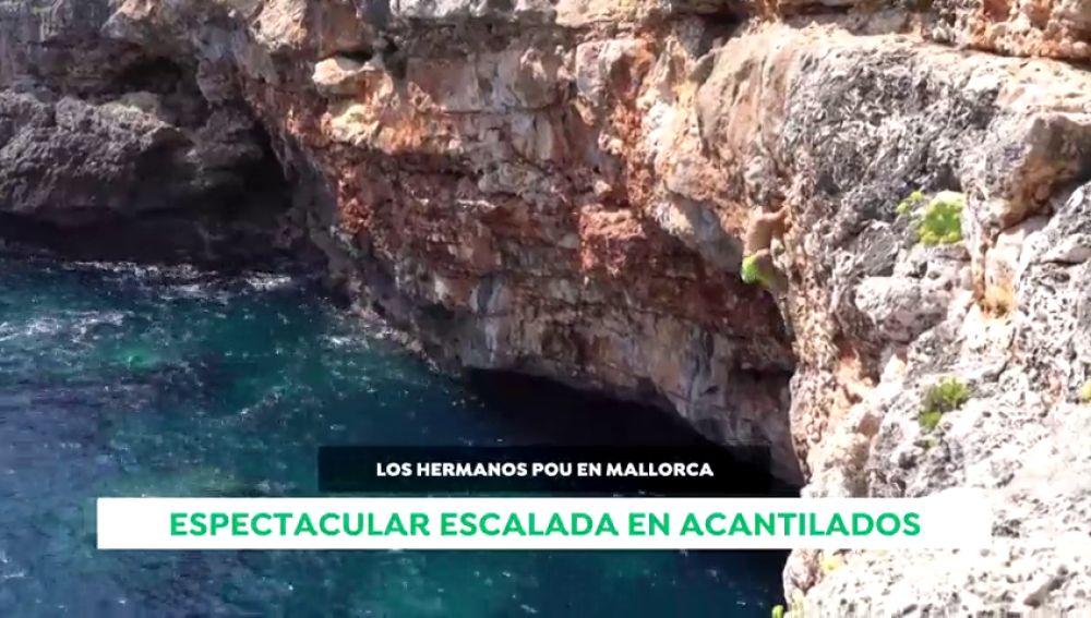 Los hermanos Pou vuelven a la carga con una sesión de escalada en los acantilados de Mallorca