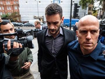 Hugo Lloris en los juzgados