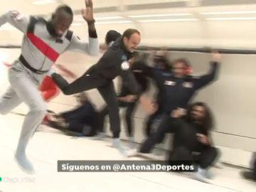 Usain Bolt, el rey del atletismo, hasta en el espacio