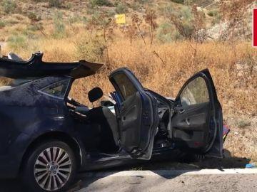 Un herido grave tras un accidente frontal en Madrid
