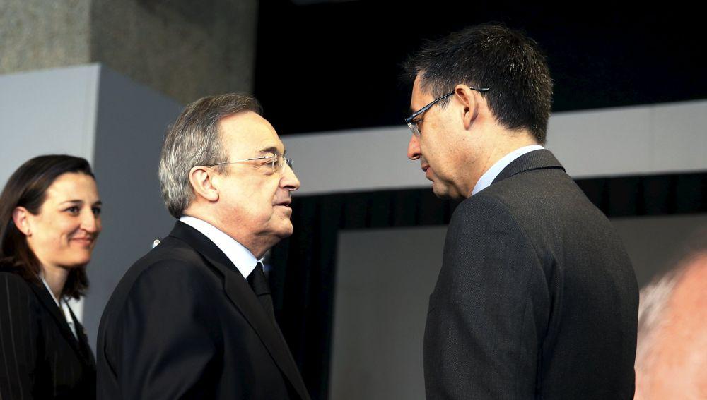 Florentino Pérez y Josep María Bartomeu