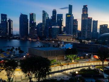 El trazado de Marina Bay, en Singapur