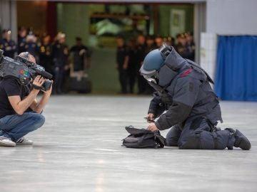 Imagen de un TEDAX realizando un simulacro