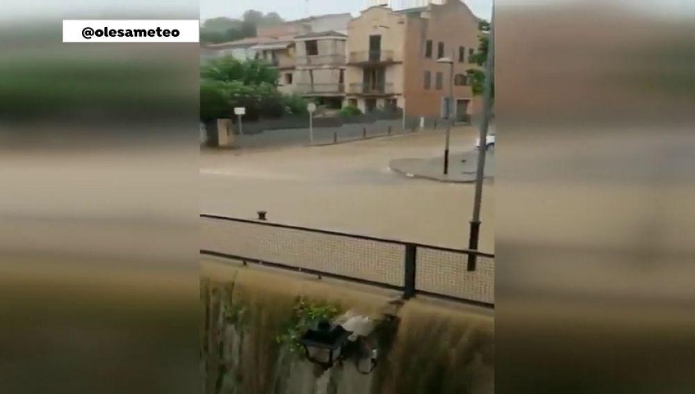 Fuertes tormentas en Cataluña
