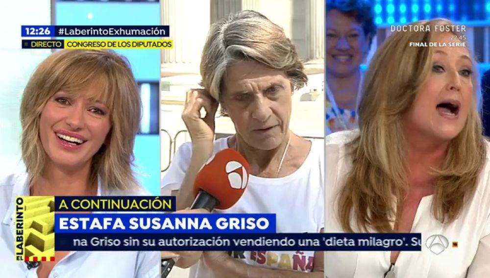 """Susanna Griso estalla ante la 'mujer más franquista de España': """"Llevamos un programa un poco complicado, madrugo mucho y me encuentro con esto"""""""